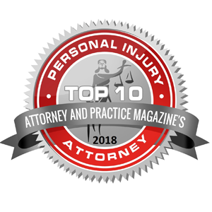 Attorney and Practice Magazine's Top 10 Personal Injury Attorney in North Carolina
